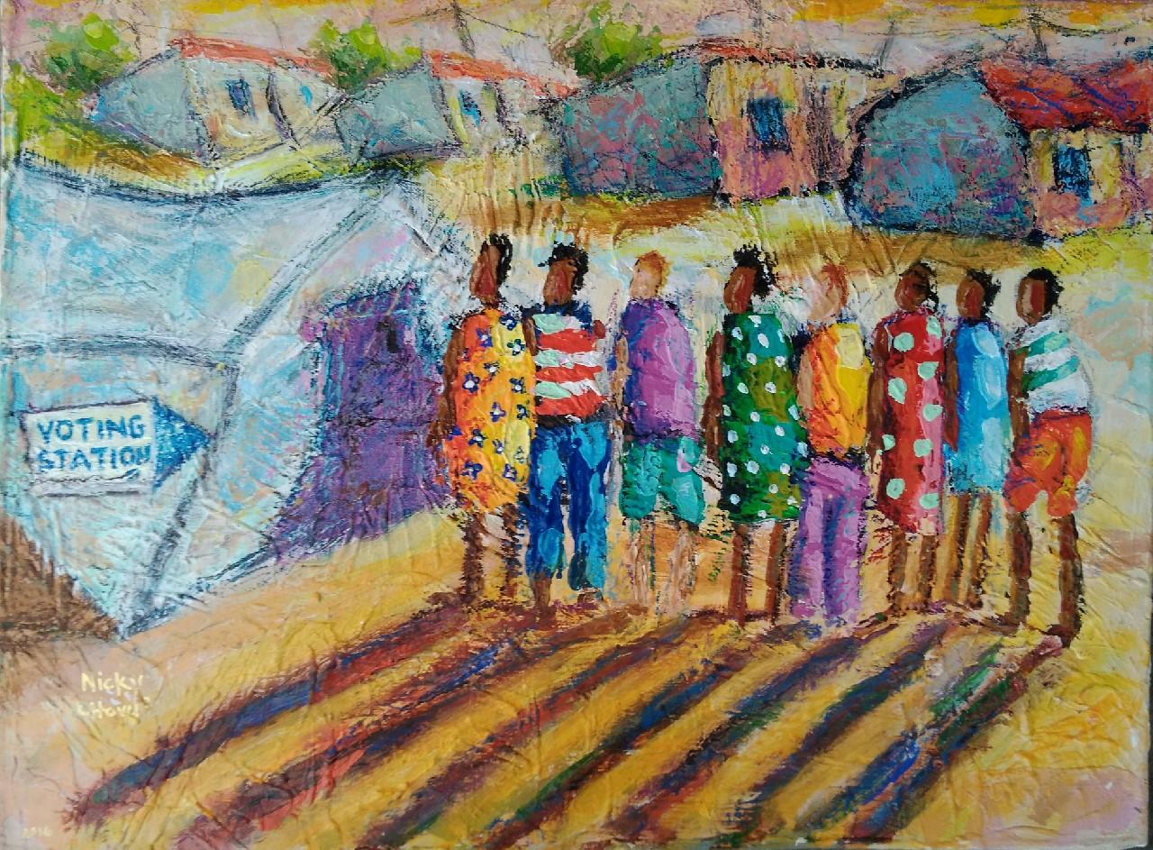 Nicky Chovuchovu.  Artist- painter