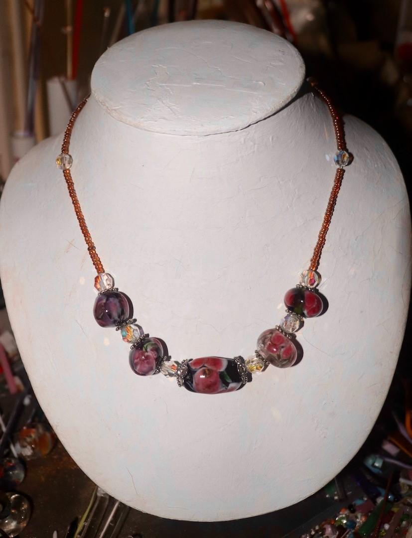 Ingrid's Glass Beads. Artist – glass