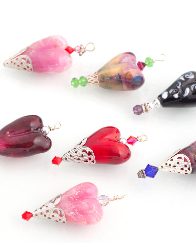 Ingrid's Glass Beads. Artist – glass
